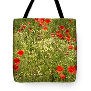 Summer Meadow Background Tote Bag
