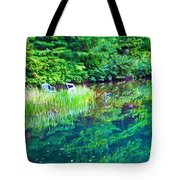 Summer Monet Reflections Tote Bag