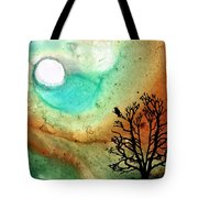Summer Moon - Landscape Art By Sharon Cummings Tote Bag by Sharon Cummings