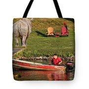 Summer Morning On Muskoka River Tote Bag