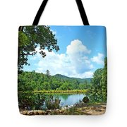 Summer Mountain Pond 2 Tote Bag