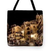 Summer Night In Albarracin Spain Tote Bag