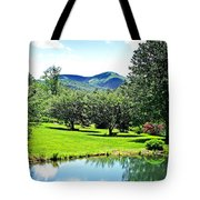 Summer Pond And The Blueridge Tote Bag