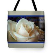 Summer Rose Sapphire Border Tote Bag