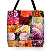Summer Roses And Dahlias 2013 Tote Bag