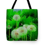 Summer Scenery In Green Tote Bag