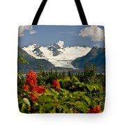 Summer Scenic Of Grewingk Glacier And Tote Bag