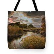 Summer Sets On The Gunnison River Tote Bag