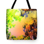 Looking Right Up Into The High Summer Sky Tote Bag