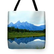Summer Snow Mountains Tote Bag
