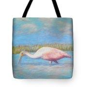 Summer Spoonbill Tote Bag