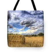 Summer Straw Bales Tote Bag