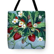 Summer Strawberries Tote Bag