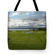 Summer Stretching On The Grass Tote Bag