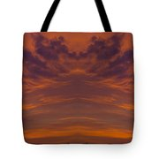 Summer Sunrise Over Jackson Michigan Mirror Image Tote Bag