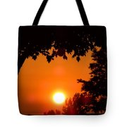 Summer Sunrise Right Side Tote Bag