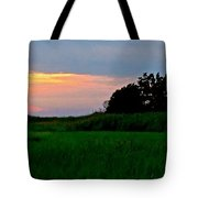 Summer Sunset At East Point Light Tote Bag