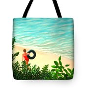 Summer Swim Tote Bag