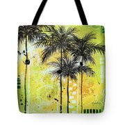 Summer Time In The Tropics By Madart Tote Bag