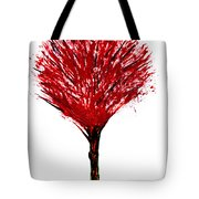 Summer Tree Painting Isolated Tote Bag