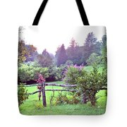 Summer Valley Fence Tote Bag