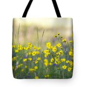 Summer Wildflowers On The Rim  Tote Bag