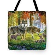 Summer Wolf Family Tote Bag by Jan Patrik Krasny