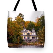 Summerhome On A River Tote Bag