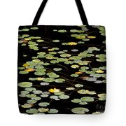 Summer's End Lily Pads Tote Bag