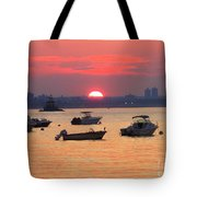 Late Summer Sunset Over The Bay Tote Bag