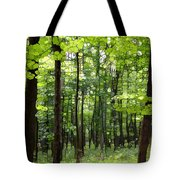 Summer's Green Forest Abstract Tote Bag