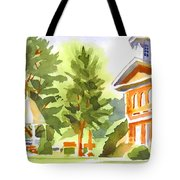Summers Morning On The Courthouse Square Tote Bag