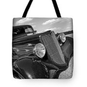 Summertime Blues In Black And White - Ford Coupe Hot Rod Tote Bag