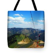 Summertime Chairlift Ride Tote Bag