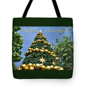 Summertime Christmas With Text Tote Bag by Kaye Menner