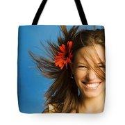 Summery Model Tote Bag