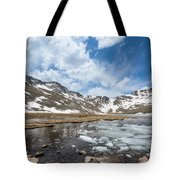Summit Lake In The Spring Tote Bag