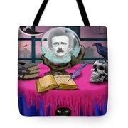 Summoning Edgar Allan Poe Tote Bag