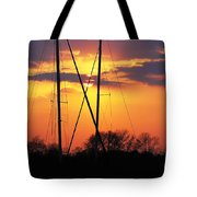 Sun And Masts Tote Bag