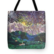 Sun And Moon Night Tote Bag
