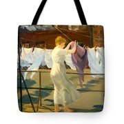 Sun And Wind On The Roof Tote Bag