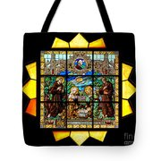 Sun Burst Stained Glass Tote Bag
