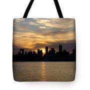 Sun Comes Up On New York City Tote Bag