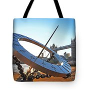 Sun Dial And Tower Bridge London Tote Bag
