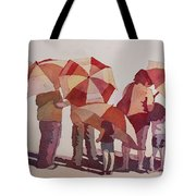 Sun Drenched Parasols  Tote Bag