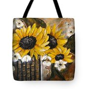 Sun Flowers Tote Bag by Elena  Constantinescu