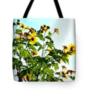 Sun Flowers In The Sun Tote Bag
