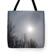 Sun Halo Through The Trees Tote Bag