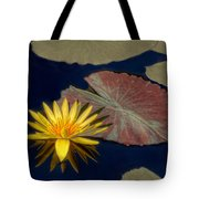 Sun-kissed Water Lily Tote Bag