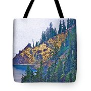 Sun Notch On A Rainy Day At Crater Lake National Park-oregon Tote Bag